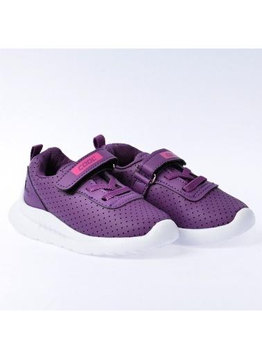Kiko Kids Kiko S20 Günlük Fileli Cırtlı Kız/Erkek Çocuk Spor Ayakkabı Mor